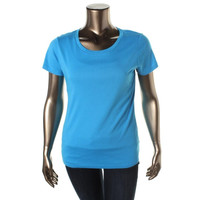 Style & Co. Womens Cotton Solid Casual Top