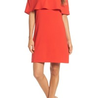 Charles Henry Off the Shoulder Dress (Regular & Petite) | Nordstrom
