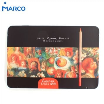 Marco Colored Pencils in a Tin Box