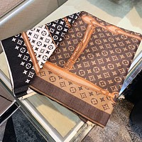Louis Vuitton LV new product color matching printed letters ladies retro shawl scarf