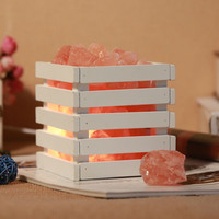 Health resin Himalayan crystal salt lamp table lamp light bedroom adornment night light lampsof the head of a bed