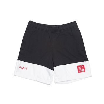 Air Jordan Men's Legacy AJ4 4 IV Fleece Shorts Bred Black Red  White