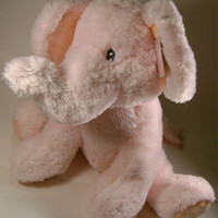 """13"""" Pink Large Elliefumps Elephant Russ Baby Girl Shower Gift Soft Plush Toy NWT"""