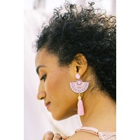 Capri Tassel Earrings - Pink