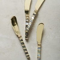 Mother-Of-Pearl Small Knives by Anthropologie in Light Grey Size: Knives Flatware