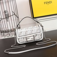 hcxx 1911 Fendi Transparent overturned oblique handbag White
