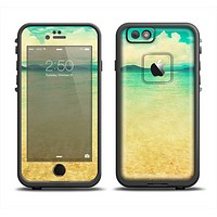 The Vintage Vibrant Beach Scene Apple iPhone 6 LifeProof Fre Case Skin Set
