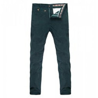 Casual Style Thicken Low Waist Solid Color Men's Corduroy Pants