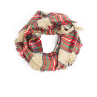 Moira Plaid Blanket Infinity Scarf, Plaid Infinity Scarf