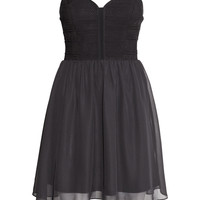 H&M - Bandeau Dress - Black - Ladies