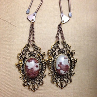 Chohua jasper and the four goddesses industrial ear weights 10 gauge and up