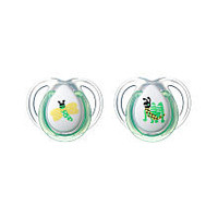 Tommee Tippee 0-6 Months 2 Pack Every Day Pacifier - Green Deco