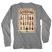 Bourbons of the South Long Sleeve Tee in Grey by Live Oak