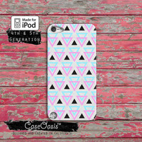 Triangle Pattern Southwest Geometrical Cute Tumblr Case iPod Touch 4th Generation or iPod Touch 5th Generation or iPod Touch 6th Gen Rubber