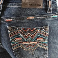 Grace in L.A. Colorful Tribal Stitch Bootcut Jeans - Sheplers