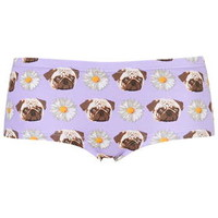 Pugs and Daisies Print Boypants - Lilac