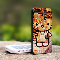 OBEY Hello Kitty - TCA ND008 -  Print On Hard Cover - For iPhone 4 / 4S Case, iPhone 5 Case ( Black, White, Clear )