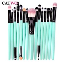 Catwo 15Pcs Makeup Brushes Set Eye Shadow Foundation Powder  Eyelash Make Up Brush Cosmetic Beauty Tool Kit Hot Free Shipping