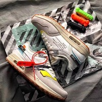 THE 10 : OFF WHITE x Nike Air Max 1 BespokeIND Sail White Sport Running Shoes