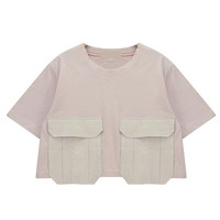 Cropped T-shirt with Pockets
