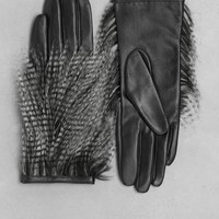 & Other Stories | Faux Fur Leather Gloves | Black