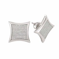 .925 sterling silver men earrings.