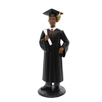 Black Art MALE GRADUATE Polyresin African American College School 17148