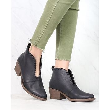 Final Sale - Very Volatile - Cavalry Ankle Booties in Black