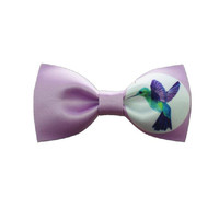 Purple Bird Print Bow Tie |Handmade|Gift for Him
