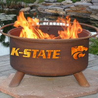 K-State Kansas State University Wildcats NCAA Portable Outdoor Grilling Fire Pit