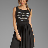 Wildfox Couture Pizza Party Baby Doll Dress in Clean Black from REVOLVEclothing.com