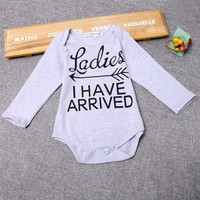 Newborn Toddler Baby Boys Girls Long Sleeve Bodysuit Romper Outfit