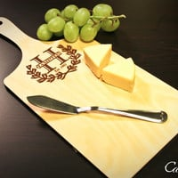 Personalized Wood Cheese Cutting Board Engraved ~ Wedding, Engagement, Anniversary, Mothers Day, Birthday Gift, Cheese