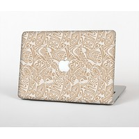 The Tan Abstract Vector Pattern Skin for the Apple MacBook Air 13""