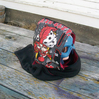 Upcycled ICP Shirt Hooded Scarf Scoodie Ready to Ship Insane Clown Posse