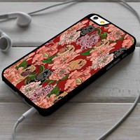 Just The Way You Are Pug Dog With Floral iPhone 4/4s 5 5s 5c 6 6plus 7 Case
