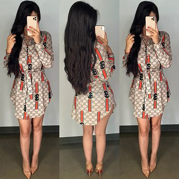 GUCCI Fashion Long Sleeve Bodycon Dress