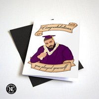 Congratulations You Played Yourself - Funny Hip Hop Graduation Card - Funny Congrats Card - Good Job A6 Congratulations Card