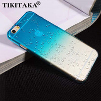 Ultra-thin Creatively 3D rain drop water raindrop hard back cover semi-transparent colorful phone case for iphone 5 SE 6 6S Plus