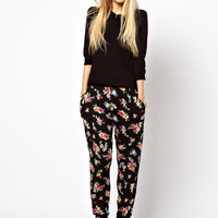 ASOS Peg Trousers in Floral