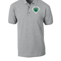 weed embroidery hat - Polo Shirt