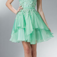 Light Green Rhinestone Beaded Sweetheart Strapless Short Dress 2015 Homecoming Dresses
