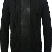 Fendi coated  panel sweater