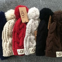 UGG: fashion men's and women's knitted cap lovers cap