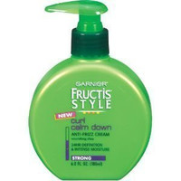 Garnier Fructis Style Curl Calm Down Anti-Frizz Cream, Strong Hold, 6 oz. . (Pack of 6) by Roomidea