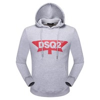 One-nice™ Dsquared2 Women Man Fashion Print Sport Casual Top Sweater Pullover Hoodie