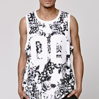 On The Byas Black & White Floral Tank Top - Mens Tee - Black