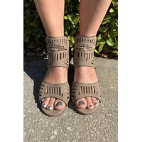 Thinking About You Heel- Taupe