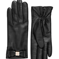 Kate Spade Leather Colorblock Bow Gloves