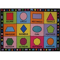 Fun Rugs Fun Time Collection Shapes Area Rug